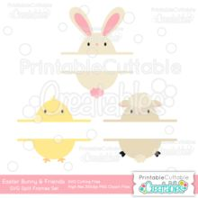 Girl & Boy Easter Bunny Face Free SVG Cut File & Clipart - Free SVG cut files for Silhouette, Cricut cutting machines. Free Easter Bunny Face SVG files