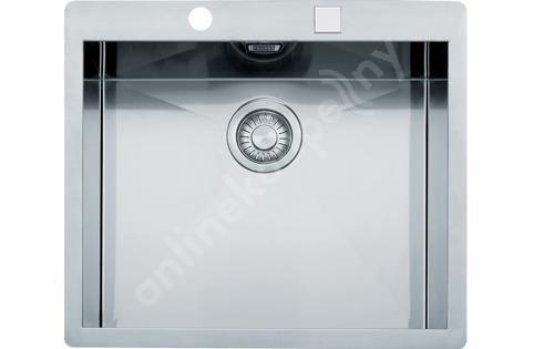 Franke Planar - Nerezový dřez PPX 210/610-58 TL, 580x512 mm + sifon 127.0203.469