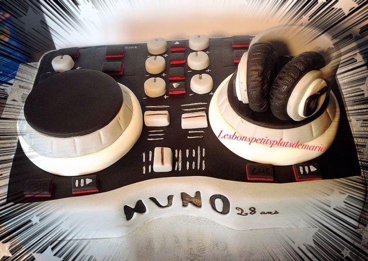 Gâteau platine DJ