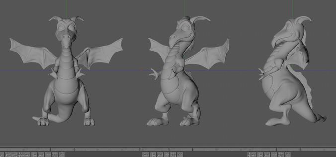 little dragon   3D Print Model
