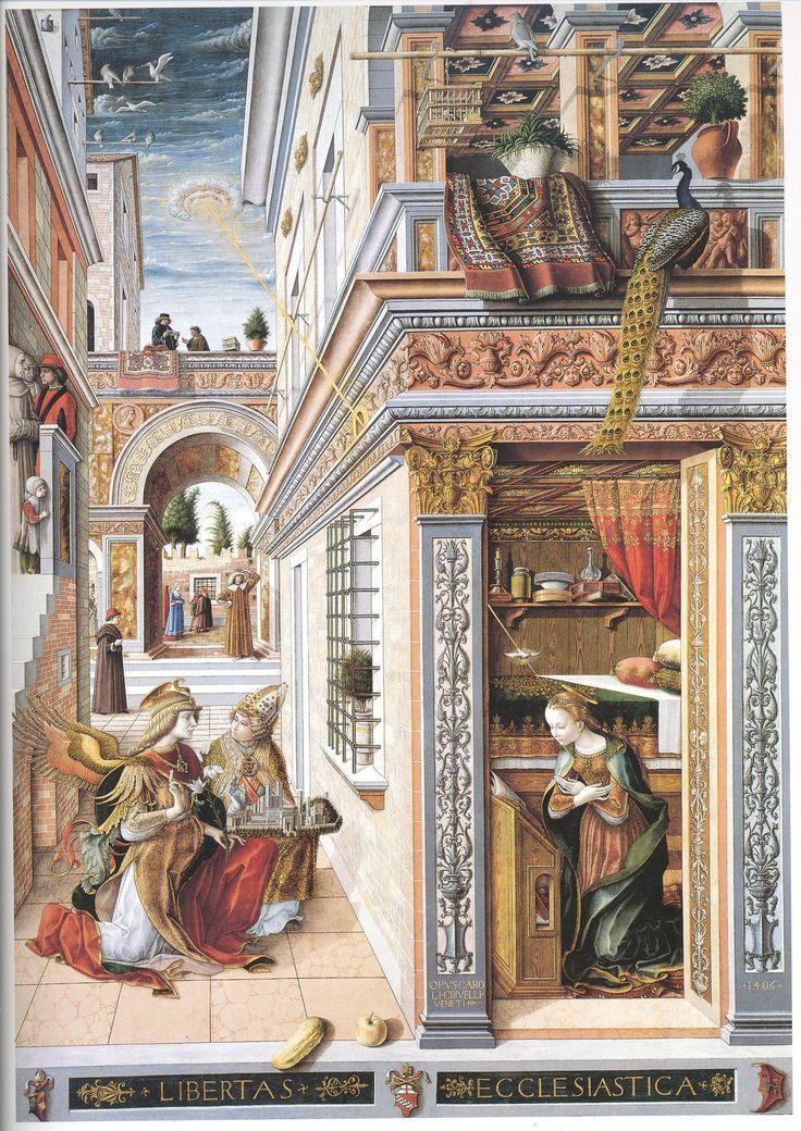 OVNIS en el arte: La anunciación con San Emidius (1486) - Carlo Crivelli