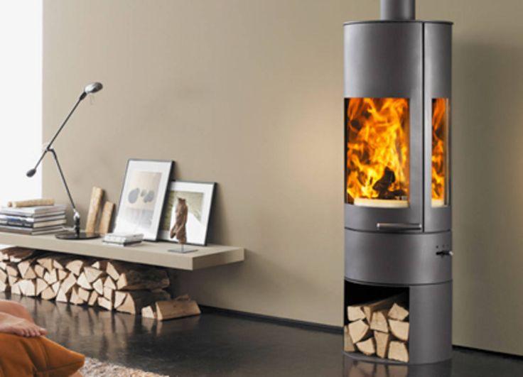 Le stufe a legna in ghisa per la casa moderna. #stufeecamini #inverno #interiors https://www.homify.it/librodelleidee/181590/le-stufe-a-legna-in-ghisa-per-la-casa-moderna