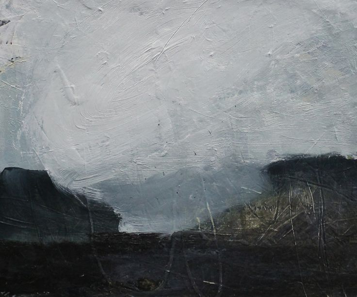 Small Landscape Sea Mist 30cm x 20cm Oil and Gesso on paper/Canvas 2015
