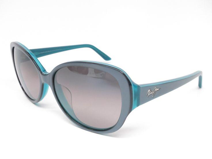 Maui Jim Swept Away MJ GS733-06B Blue Grey w/Teal Interior Polarized Sunglasses