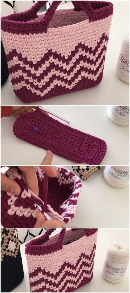 How To Crochet A Pretty Bag – Crochet-Therapist
