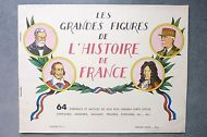 Les Grandes Figures de l'Histoire de France Album 64 Portraits.