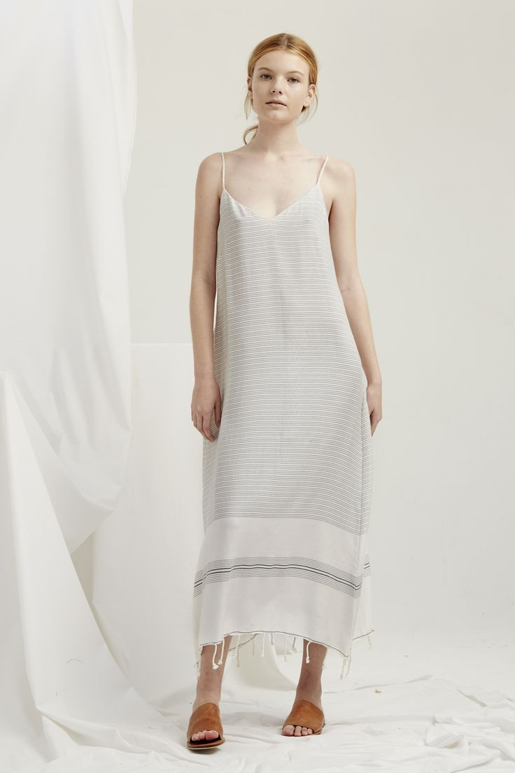 Slip Dress- Natural Turkish Weave