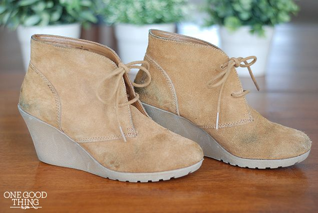 how to clean suede boots with vinegar