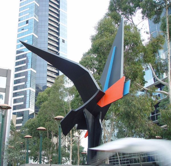 Inge King's Shearwater sculpture at Southbank, Melbourne, Australia