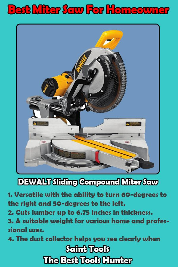 Best Miter Saw For Homeowner Miter Saw Mitered Homeowners Guide