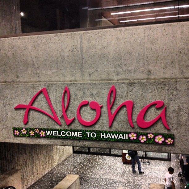 When you arrive hear you get this Awesome feeling it just make you feel so special and lucky to be in Hawaii....a calming effect begins as your depart from your flight.