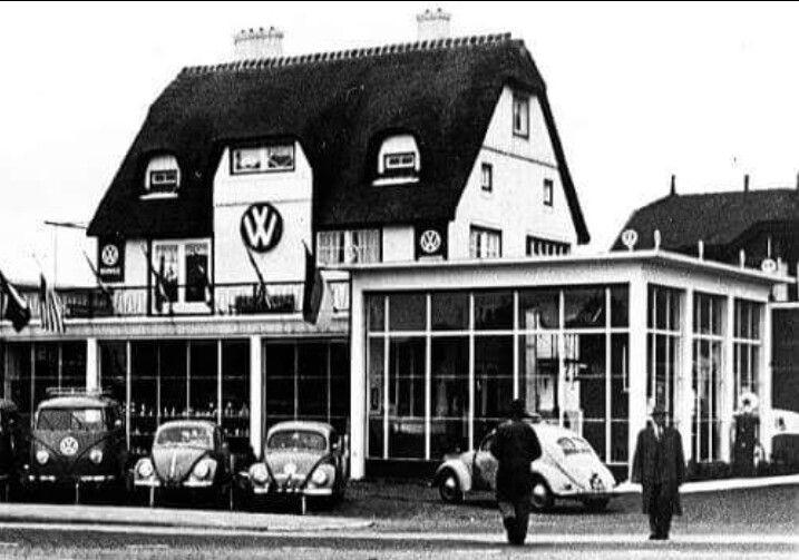 VW dealer Van Beynum, Burgemeester Van Reenensingel, Gouda, The Netherlands, 1953.