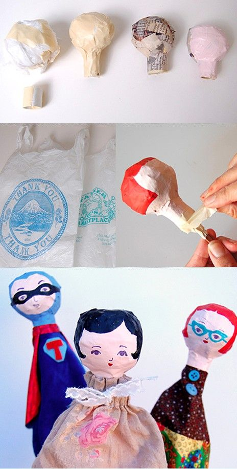 Cone puppets for kids~Images © Teri Dimalanta / Giddy Giddy