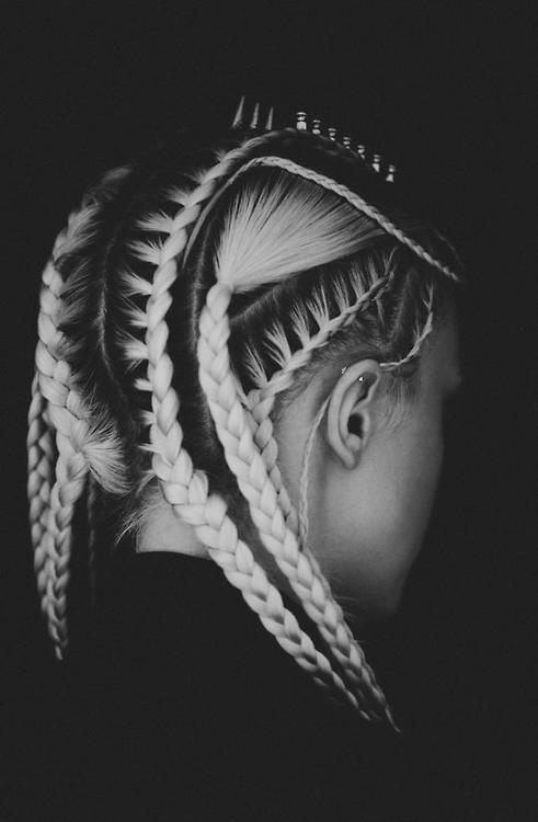 cornrow variation. #hair