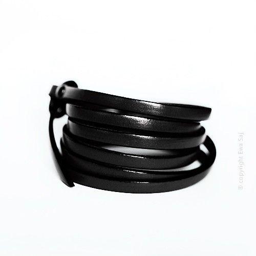 Bransoletka - pasek czarny