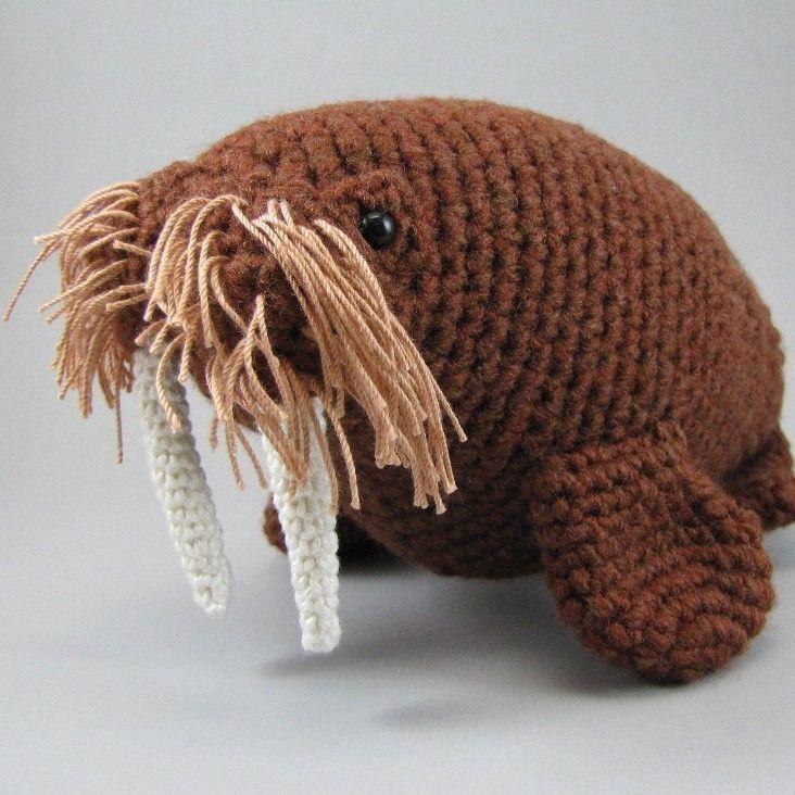 Walrus Pdf Amigurumi Crochet Pattern Things I Like Pinterest