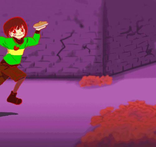 "rainbowchibbit: ""Wow Chara, what a waste of perfectly good Snail Pie! [Original] """