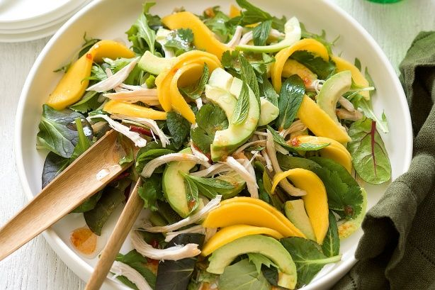 Liven up ordinary meals with this chicken, mango and creamy avocado spring salad recipe.