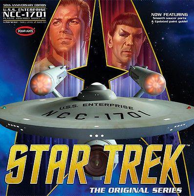 Star Trek 49211: Polar Lights 938 Star Trek Uss Enterprise 50Th Anniversary 1 350 Scale Model Kit -> BUY IT NOW ONLY: $139.95 on eBay!