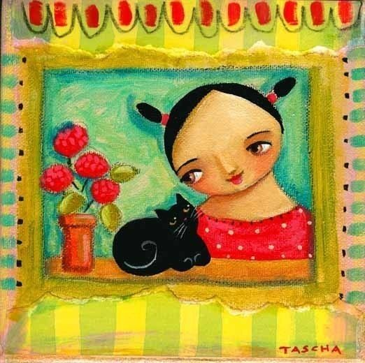 RED GERANIUMS at the window PRINT 6x6 by tascha by tascha on Etsy