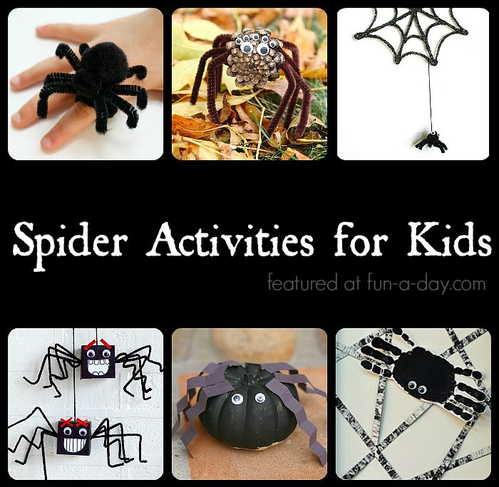 not so creepy spider crafts and activities for kids - Halloween Fun Activities For Kids