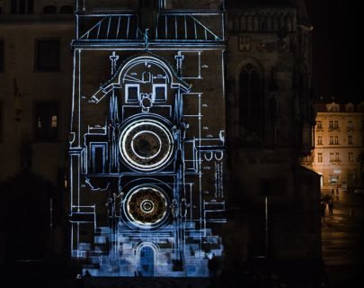 prague video mapping on astronomical clock .png 405 × 320 pixels