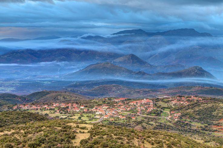 Foggy & Cloudy sunrise at Elliniko Arkadias, Peloponnese