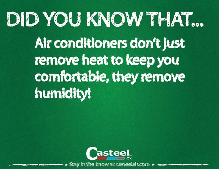 You air conditioner is working in more ways than one!