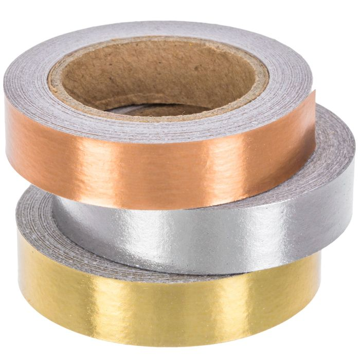 Gold Silver Copper Foil Washi Tape Hobby Lobby 1297449 Copper Foil Copper Foil Tape Washi Tape