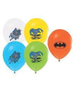 Batman Temalı 10 Adet Renkli Latex Balon