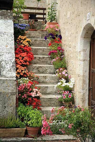 Pretty colorful garden decoration