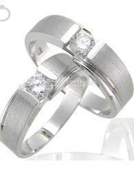 Cincin Kawin Emas Putih + Palladium - GD42092 cincin kawin muslim