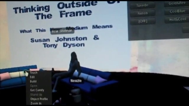 Emmy nominated Tony Dyson R2D2 Builder speaks on Machinima as a story telling tool in Second Life