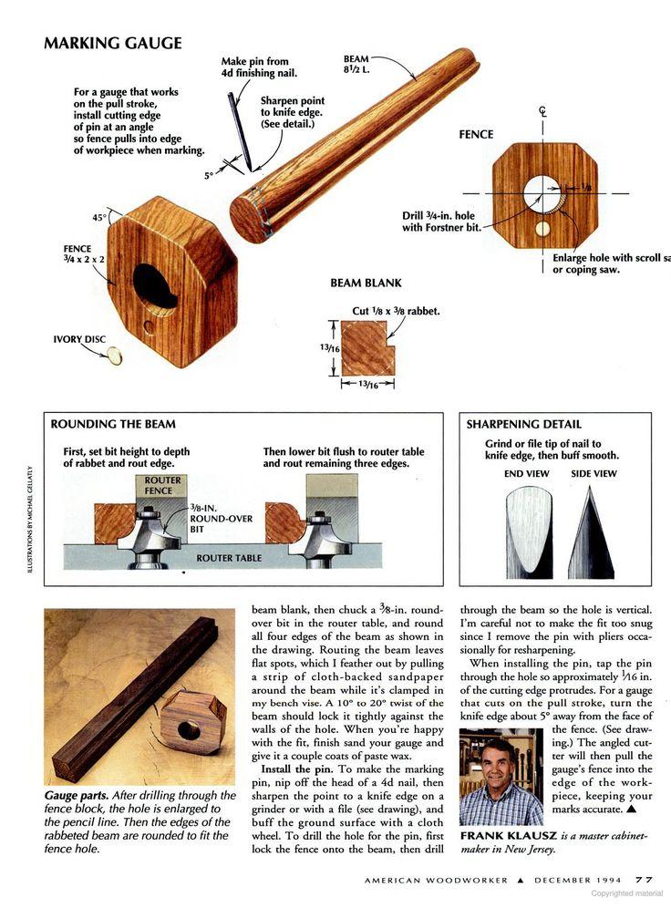 Frank Klause twist lock marking gauge American Woodworker