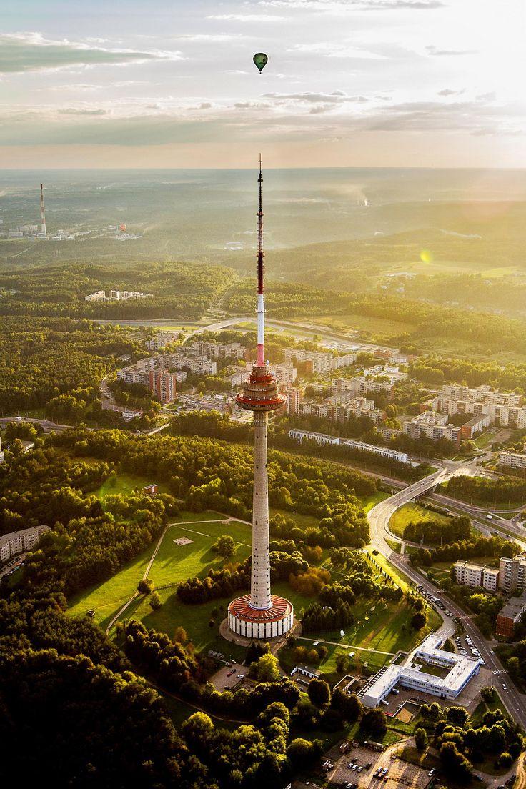 La Torre de Televisión de Vilnius es la estructura más alta en Lituania