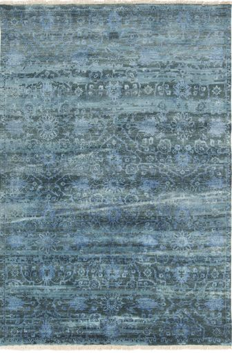 Antique Wash Wool Hand Knotted Rug With Fringe Detail From Surya S New Empress Collection