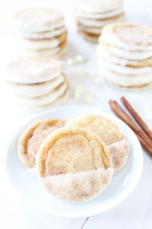 fullcravings:  White Chocolate Dipped Snickerdoodles