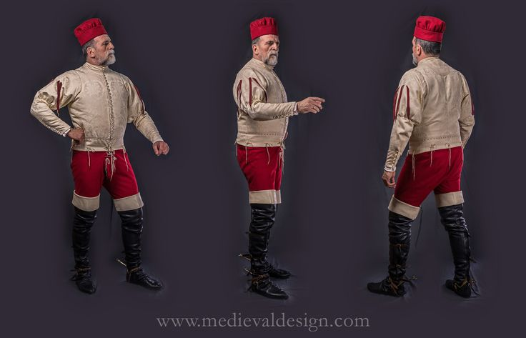 1460-1480 Italian outfit by www.medievaldesign.com