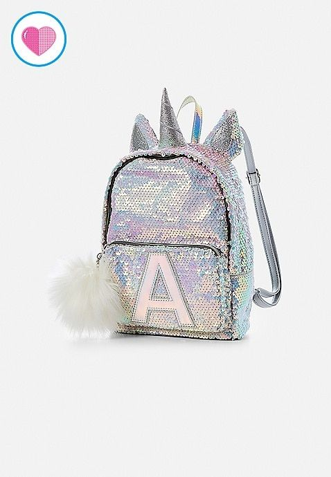 Initial Unicorn Flip Sequin Mini Backpack  9e6be5ab7c9e5