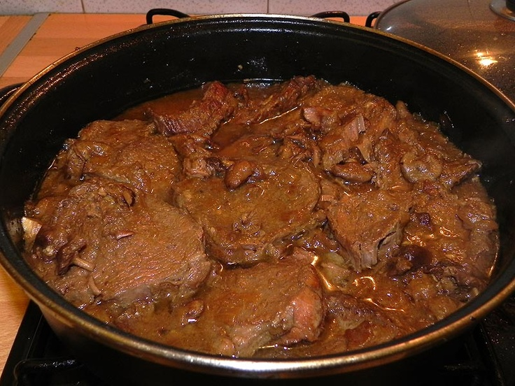 La cuina de sempre: Carn de vedella rostida amb moixernons  - RECEPTA APORTADA PER EN MANEL VILAS   #Recipe in #Catalan