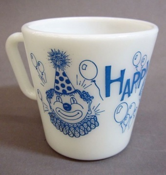 Pyrex Happy Birthday Cup   Corning Museum of Glass. This would be the best birthday present ever!