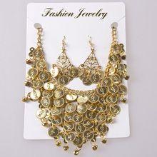 Belly collier de danse bijoux accessoires de danse du ventre 2 pcs boucles d'oreilles + collier twinset indien accessoires de danse(China (Mainland))