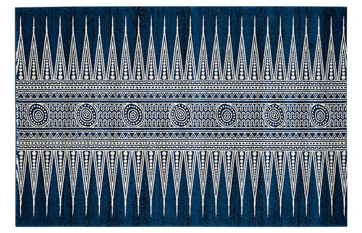 One Kings Lane Genoa Rug - Royal/Ivory - 10'x14' | Genoa ...