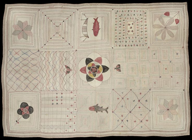 Kantha (Embroidered Quilt) Artist/maker unknown, Bengali Geography: Made in Bangladesh, Asia or West Bengal, India, Asia Made in Undivided...