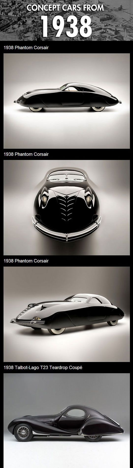 Concept cars from 1938… this, right here, is style.