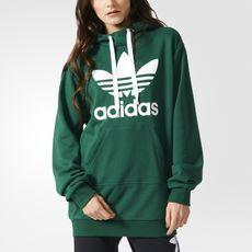 adidas - Sweat-shirt à capuche Trefoil Long