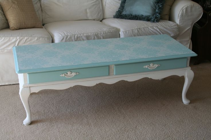 Painted+Coffee+Table+Ideas | For the love of white: Chalk Paint Coffee Table Project