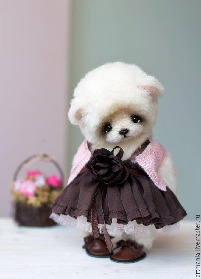 Lovely Teddy Bear Lisa - кремовый, мишка, медвежонок тедди, мишка девочка, мишка в одежке, бал, Танцовщица