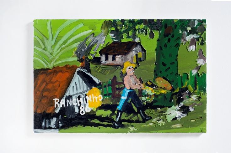 Rodrigo Andrade - 2012 |  Versão sobre obra de Ranchinho S/T - 1986 |  Óleo sobre tela sobre mdf |  40 x 60 cm