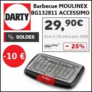 #missbonreduction; Soldes: 10€ de remise sur le Barbecue MOULINEX BG132811 ACCESSIMO. http://www.miss-bon-reduction.fr//details-bon-reduction-Darty-i268-c1838582.html